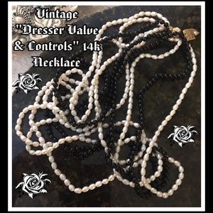Rare Vintage Dresser Valve&Controls 14k Necklace.